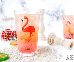 蜜桃樱花饮  #夏日冰品不能少#的做法