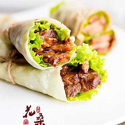【蜜汁叉烧肉卷饼】大口吃肉贴秋膘