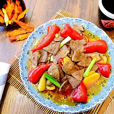 川菜-泡椒猪肝-滑嫩酸爽