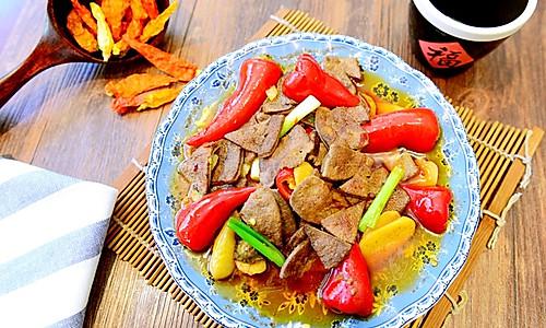 川菜-泡椒猪肝-滑嫩酸爽的做法
