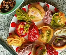 彩色素蒸饺的做法