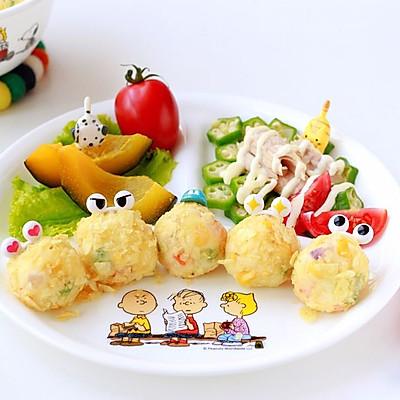 缤纷香脆芝士薯泥球&时蔬金枪鱼沙拉儿童套餐