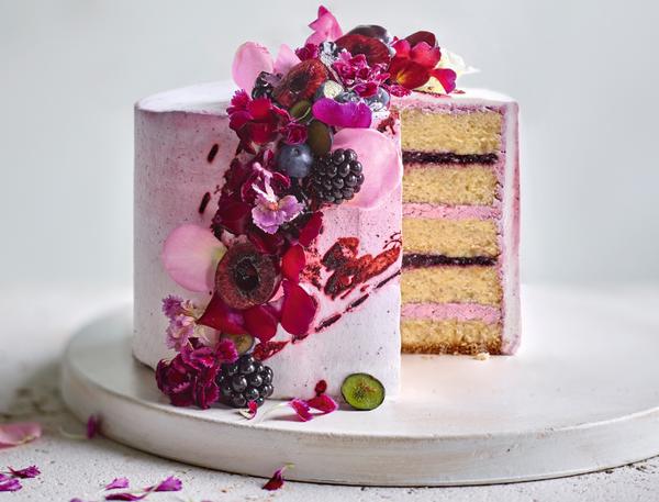 鲜花水果桶蛋糕