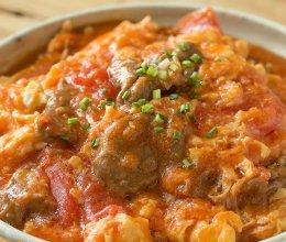 【番茄滑蛋牛肉】番茄炒蛋加了它,嫩滑鲜美大升级! 的做法