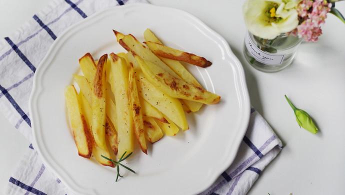 不用一滴油,健康烤薯条