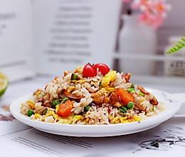 #精品菜谱挑战赛#核桃仁虾干时蔬蛋炒饭的做法