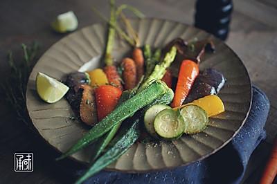 西班牙黄油烤四季时蔬,你有空把前边的菜品名称再读一遍