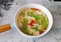 丝瓜豆腐蛋花汤的做法