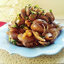 韭菜炒蛤#舌尖上的春宴#