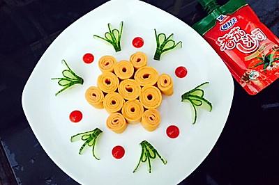 胡萝卜番茄酱蛋饼#十万个喂什么#