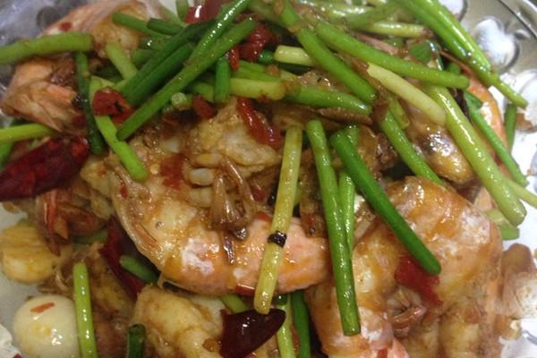 香辣对虾的做法