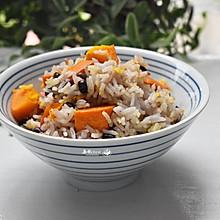 #一人一道拿手菜#南瓜红豆饭