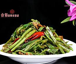 超级下饭快手菜【豆豉青椒空心菜】 的做法