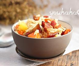 腊肉焖饭#美的初心电饭煲#的做法
