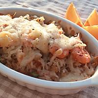 两餐厨房丨冬日意式甜虾焗饭的做法【两餐原创】的做法图解12
