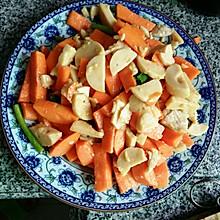 红萝卜炒火腿肉片