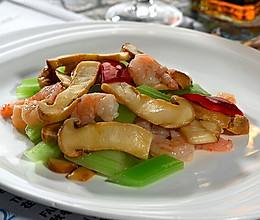 松茸炒鲜虾 的做法