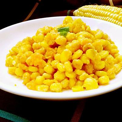 少油健康版的金沙玉米~宝宝超爱吃哟