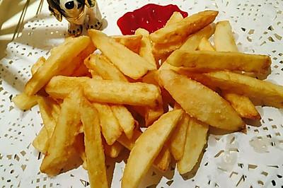 外脆里嫩的炸薯条(家庭版不用冷冻)