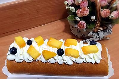 芒果蛋糕卷(瑞士卷)--小四卷皮~