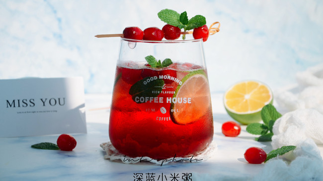 """#""""莓""""好春光日志#初恋的味道— 蔓越莓Mojito的做法"""