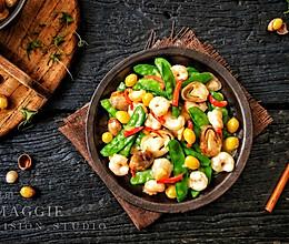 荷兰豆草菇虾仁的做法