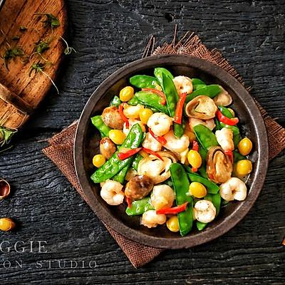 荷兰豆草菇虾仁