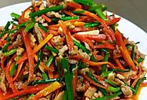 #我的养生日常-远离秋燥#韭菜花红萝卜炒肉丝的做法