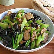 芹菜木耳炒肉片