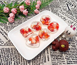 水晶草莓果冻的做法