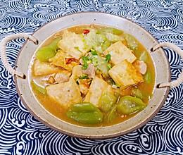 丝瓜炖豆腐,谁比谁嫩的做法