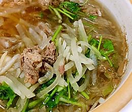 羊肉片萝卜丝汤的做法