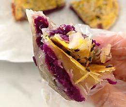 紫薯夹心手抓饼 美味早餐的做法