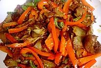 红椒腊肉的做法