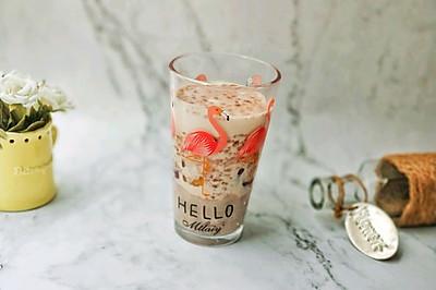 芋泥牛奶芋圆燕麦巧克脆片饮