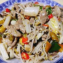 芹菜豆芽炒肉