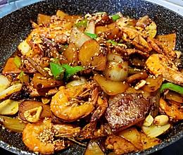 吃起来特别带劲儿的干锅香辣虾的做法