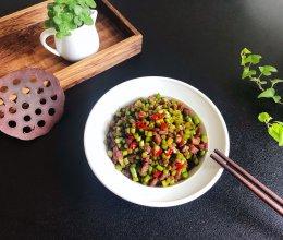 肉末蒜苔的做法