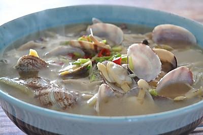 香菇花蛤汤,鲜得舌头都掉了
