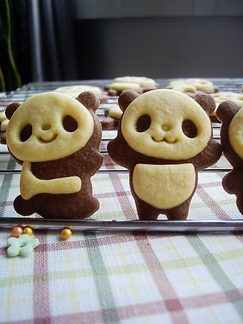 超萌熊猫饼干