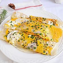 5分钟快手早餐❗简单美味鸡蛋煎饼❗巨好吃