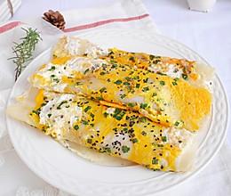 5分钟快手早餐❗简单美味鸡蛋煎饼❗巨好吃的做法