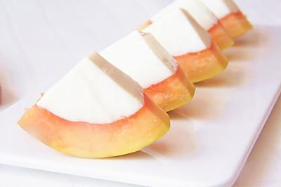 养颜甜品——椰奶木瓜冻