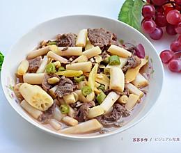 泡椒藕带炒牛肉的做法
