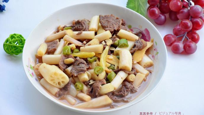 泡椒藕带炒牛肉