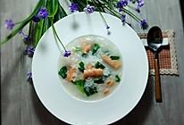 蔬菜三文鱼粥(家常)的做法