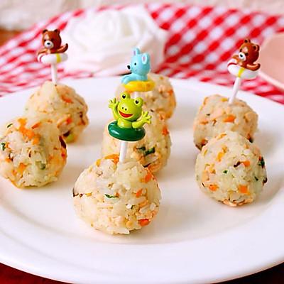 三文鱼蔬菜饭团