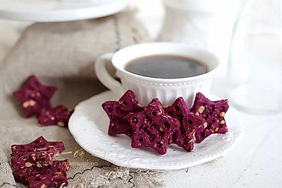 【空气炸锅版】紫薯花生星星酥
