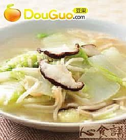 素蟹肉丝白菜的做法