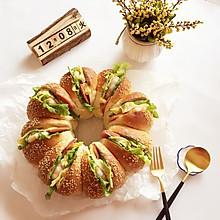 花朵汉堡包